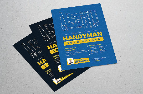 Vector Handyman Flyer Template