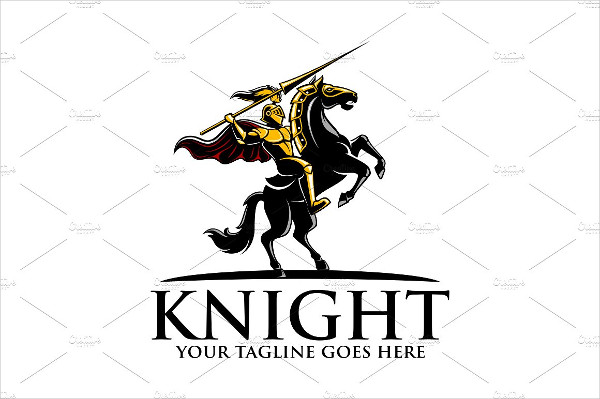 Unique Knight Logo Template
