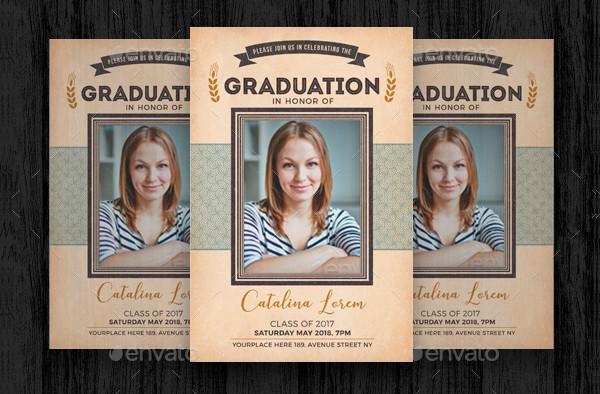 Vintage Graduation Invitation Template