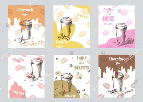 Vintage Coffee Brochures with Chocolate Nuts