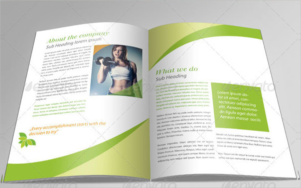 Professional Fitness Brochure Template