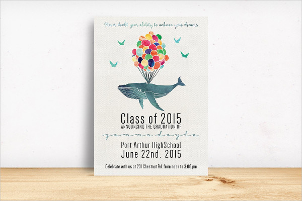 Stylish Graduation Invitation Template