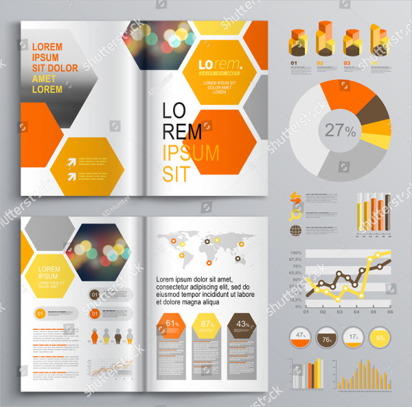 White Geometric Brochure Template Design