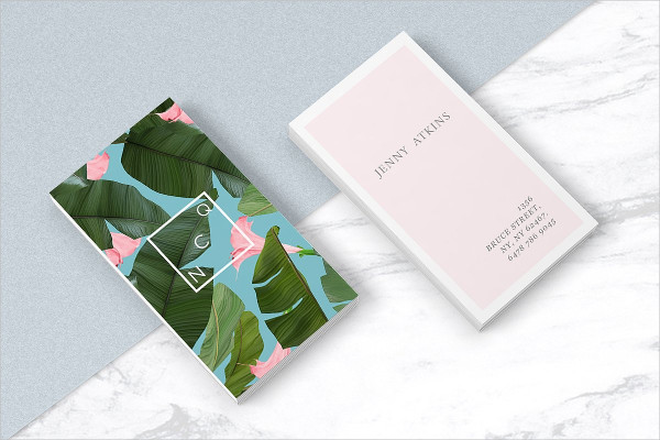 Attractive Wild Flower Business Card Template