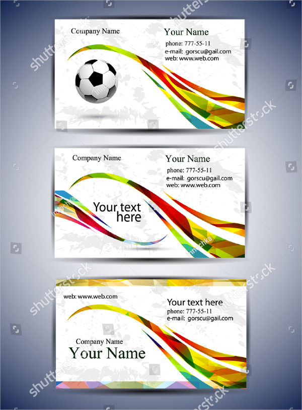 Set of Abstract Sports Business Cards