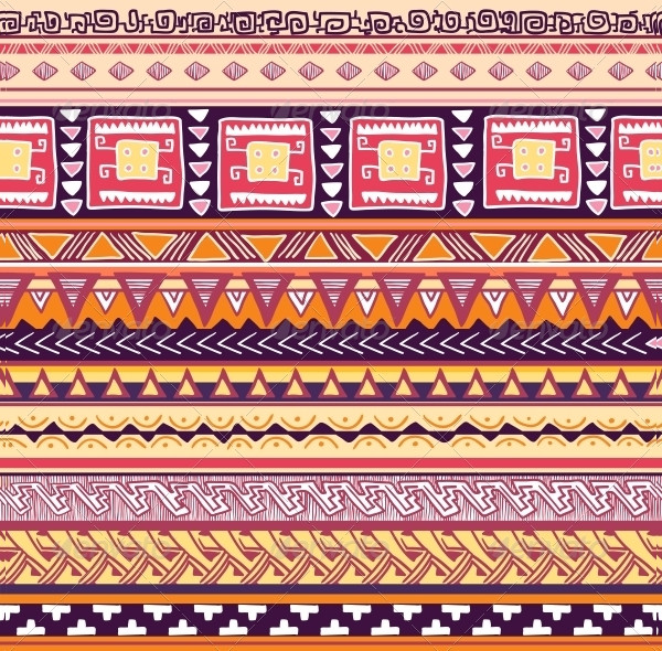 Seamless Tribal Pattern Vector Illustration