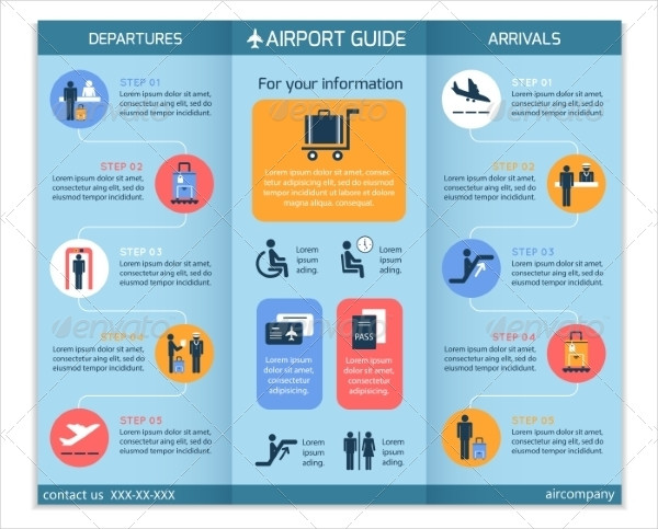 Airport Business Infographic Brochure Template