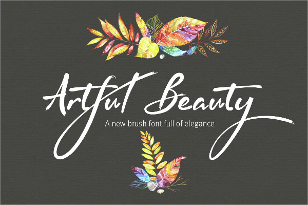 Artful Beauty Cursive Brush Font