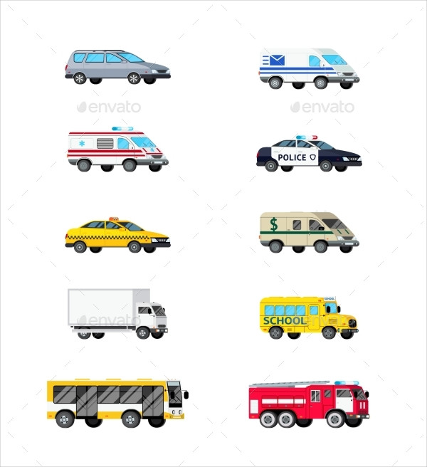 Best Motor Vehicles Icon Set