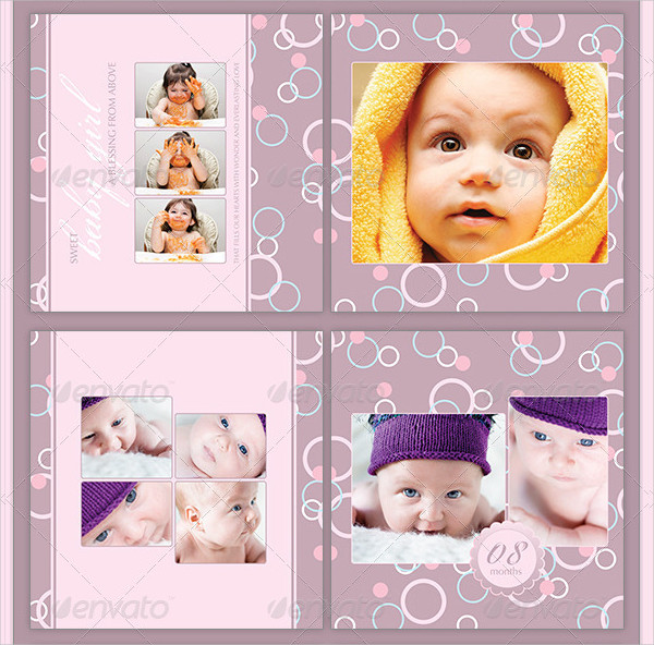 Baby Girl Photo Album Template