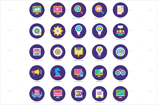 Beautifully Crafted Flat Icons Set