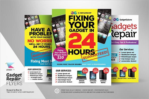 Best Gadget Repair Flyer Templates