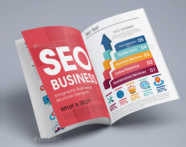 Best SEO Infographic Brochure Template