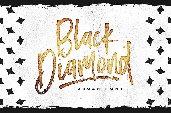 Black Diamond Brush Lettering Font