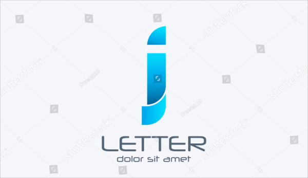 Blue Alphabet Logo Template