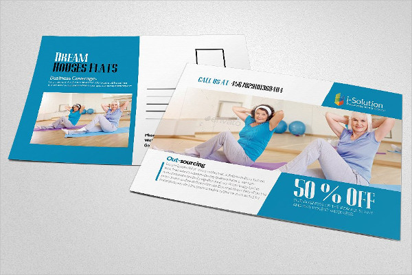 Body Fitness Postcard Template