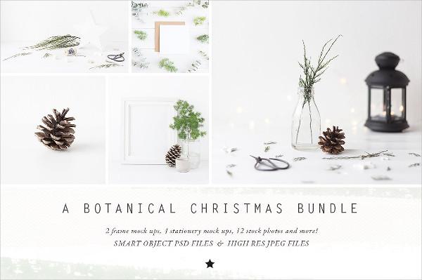 Botanical Christmas Mockups Bundle