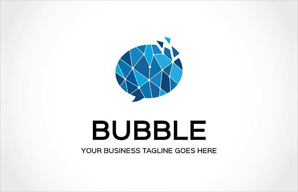 Stylish Logo Template of Bubble