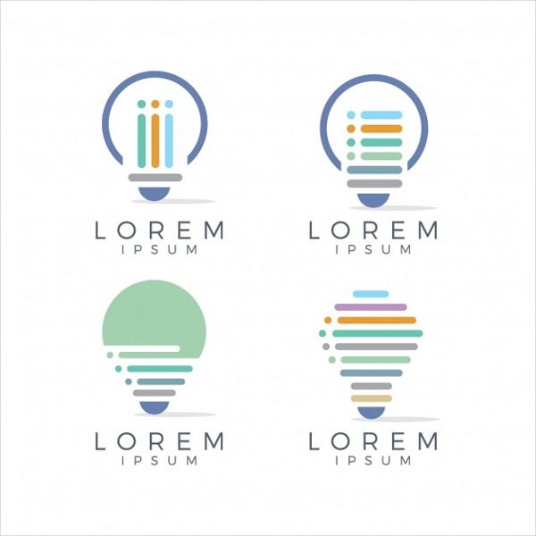 Bubble Light Logo Template Free