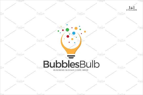 Bubbles Bulb Logo Template