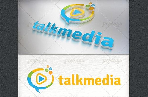 Bubbles Play Talk Media Logo Template