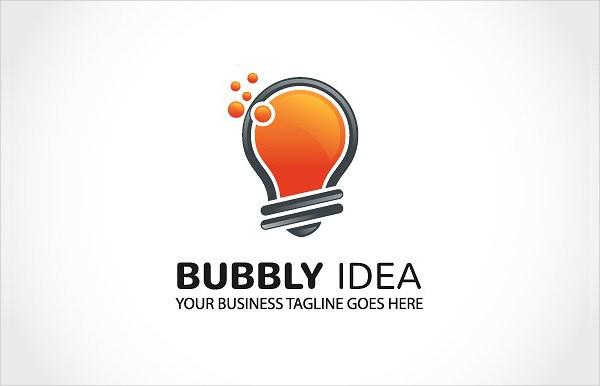Bubbly Idea Logo Template