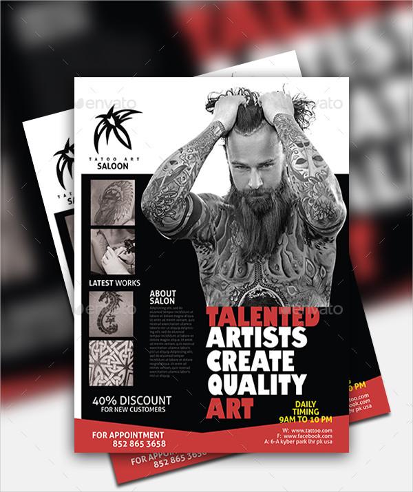 Cool Tattoo Salon Flyer Template