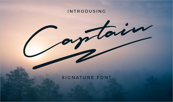Captain Signature Brush Font
