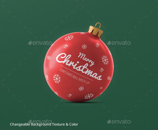 Christmas Ball Mockup for Print Design