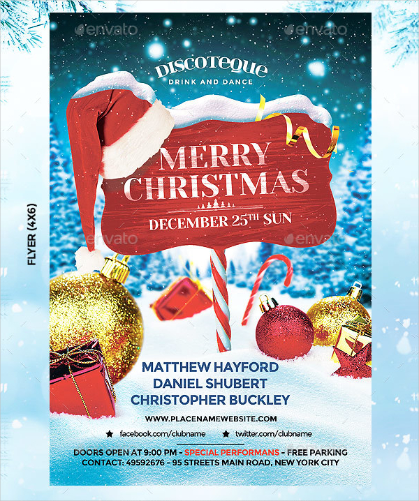 31 christmas flyer templates free premium download