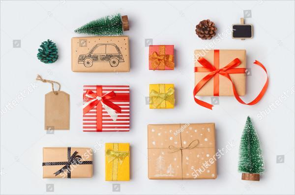 Christmas Gift Boxes Mockup