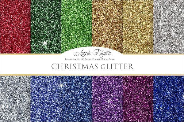 Christmas Glitter Digital Texture Paper