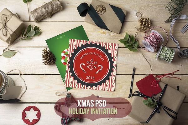 Christmas Invitation Mockup