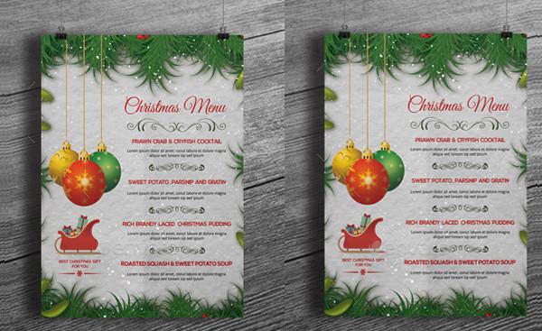 Christmas Menu Flyer Template