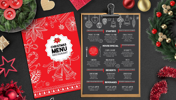 35 Christmas Menu Templates