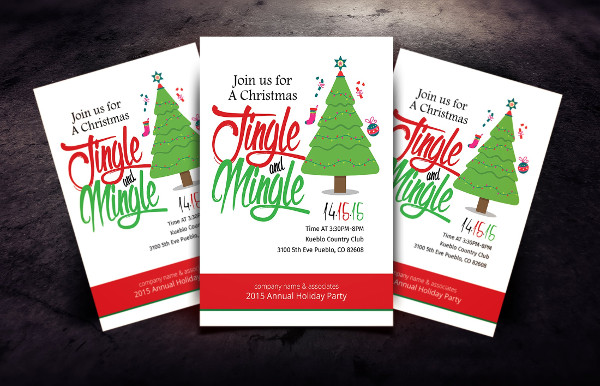Christmas Office Invitation Flyer Template