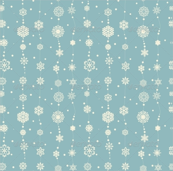 Christmas Pattern with Decorative Snowflakes