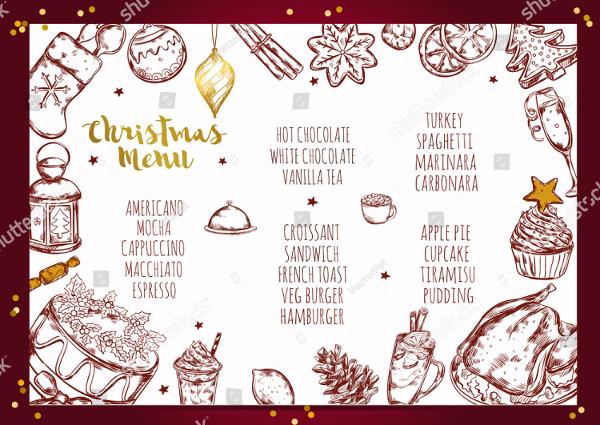 Christmas Restaurant Menu Background