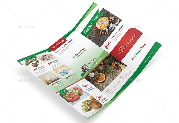 Christmas Shop Trifold Brochure