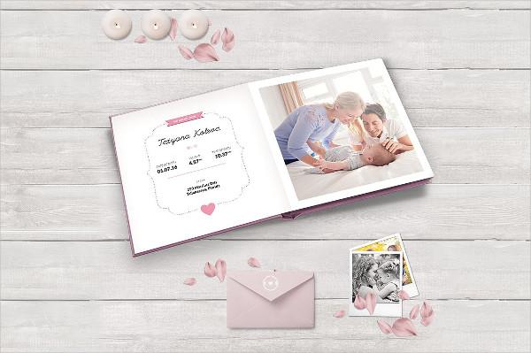 Clean Baby Photo Album Template