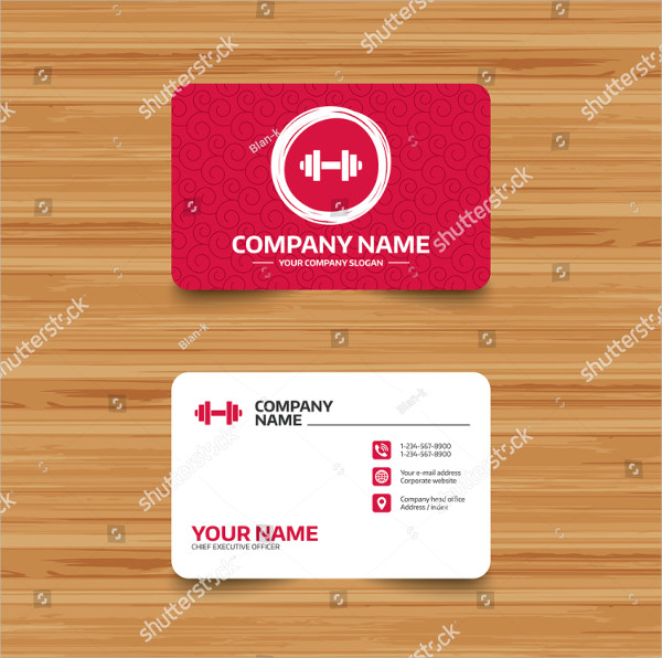 Sports Coaching Business Card Template
