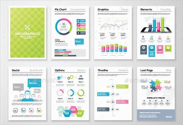 Big Collection of Infographic Brochures
