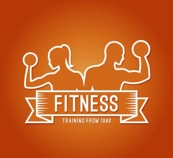 Colorful Fitness Logo Free Vector
