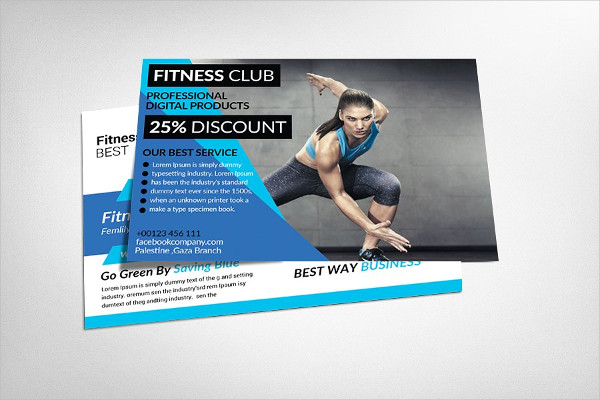 Professional Fitness Postcard Template
