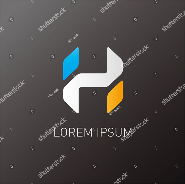 Clean Alphabet H Logo Template for Your Company
