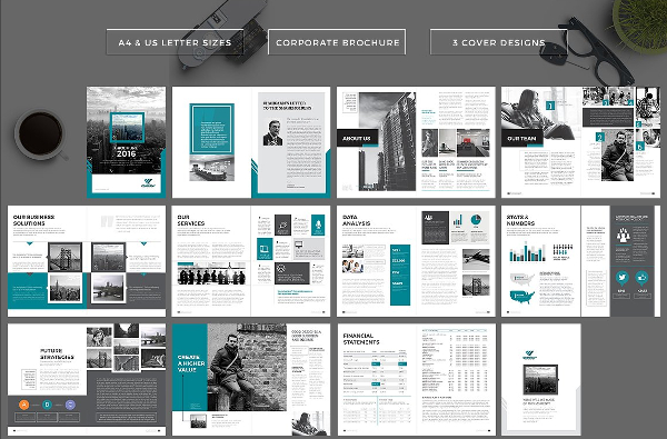 Corporate Company Infographic Brochure Template