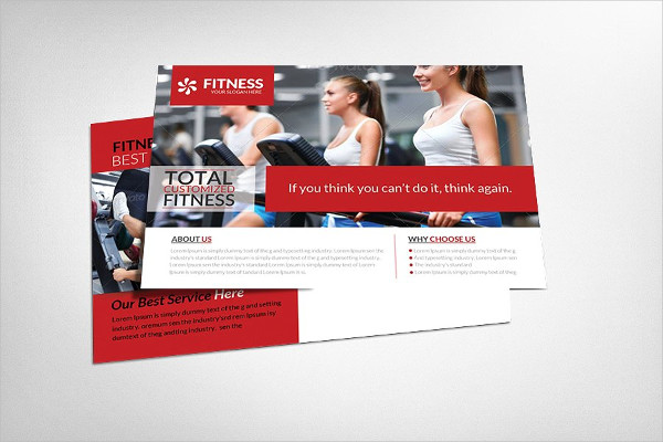 Corporate Fitness Postcard Template