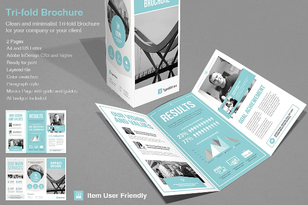 Corporate Infographic Trifold Brochure