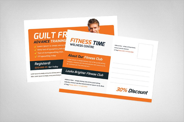 Creative Fitness Postcard Templates