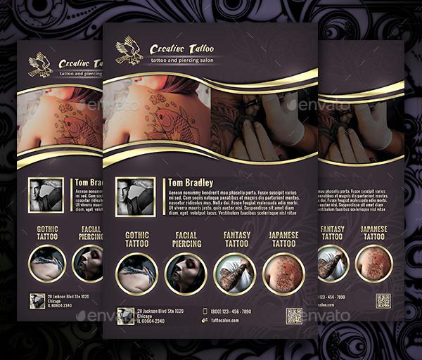 Creative Tattoo Business Flyer Template